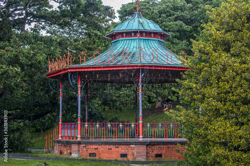 Bandstand in the Park. Wallpaper Mural
