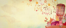 Autumn Music. Watercolor Conce...