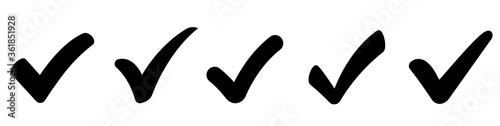Fotomural Check mark icons set