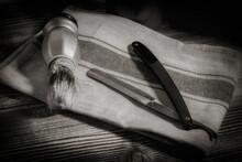 Vintage Tools For Barber Shop.