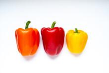 Three Fresh Bell Pepper