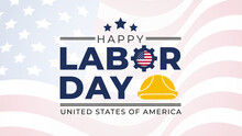 Labor Day Lettering USA Backgr...
