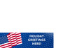 Holiday banner with American flag