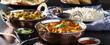 Leinwanddruck Bild - indian chicken tikka masala curry in balti dish