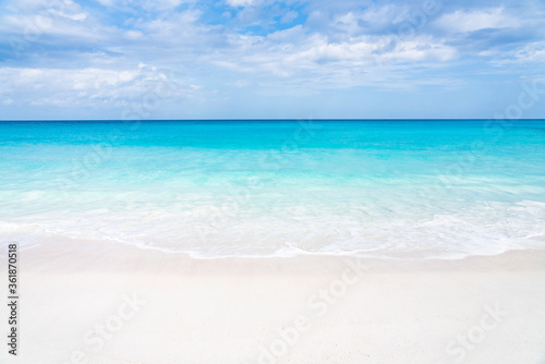 Beautiful beach with turquoise water and white sand