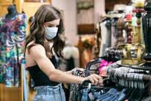 Teen Girl Wearing Face Mask Sh...
