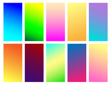 Set Of Color Gradient Backgrou...