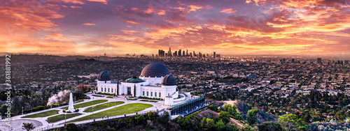 Los Angeles sunset from Griffith park Canvas Print