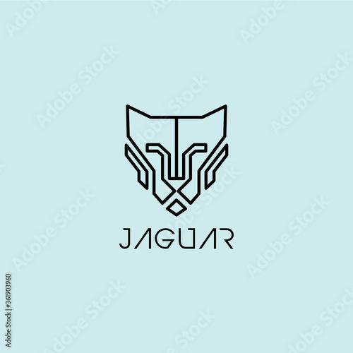 Jaguar Line Logo Fototapete