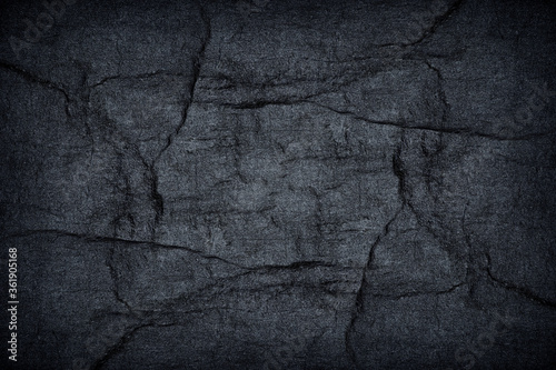 Photo texture of black stone abstract background