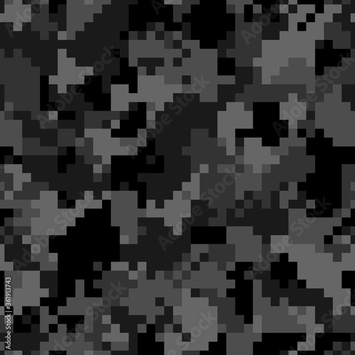 Tapeta czarna  military-camouflage-seamless-pattern-urban-digital-pixel-style