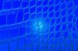 Leinwanddruck Bild - Abstract blue alligator leather pattern for background. Skin of blue reptile.