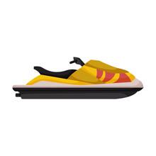 Jet Ski Vector Icon.Cartoon Ve...