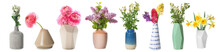Vase With Bouquet Of Flowers O...
