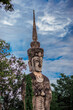 Sala Keoku-Nongkhai:June19,2020,the atmosphere inside the religious tourist site,there is a garden and a corridor around a large sculpture,tourists come to see the beauty of the holiday,Thailand