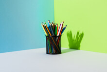 Pencil Holder With Colored Pen...