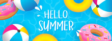 Hello Summer Banner Vector Ill...
