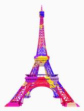 Der Eiffelturm In Farben, Freisteller