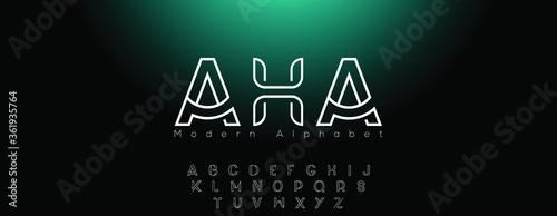 Fotografia Abstract minimal modern alphabet line font