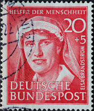 GERMANY - CIRCA 1951: A Postag...