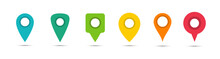 Different Pointers. Marker For Maps. Vector Icons.