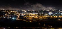 Night Panoramic View Of Jerusalem City