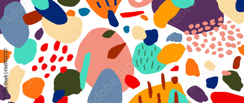 Abstract background vector with natural doodle line arts. Creative pattern with hand drawn shapes. Design background for social media post, cover, print and wallpaper