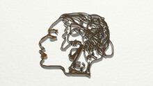 WOMAN FACE BY LINES From A Per...