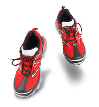 Red Running Sport Shoes Going Forward