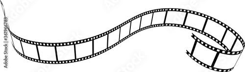 Fotografie, Tablou Film strip vector illustration on white