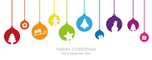 Christmas Card With Colorful T...