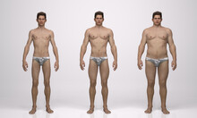 3D Rendering : Standing Male B...