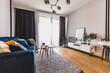 Leinwanddruck Bild - Living room in a modern apartment for rent
