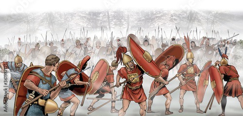 Hannibal. Battle of Lake Trasimene during the Second Punic War Canvas