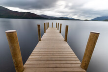 Wooden Pier On A Lake