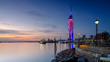 Spinnaker Tower At Sunset From Old Portsmouth, UK