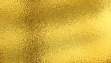 Gold Textured Background, Golden Foil Sheet For Advertising Campaign Or Wrapping Paper.