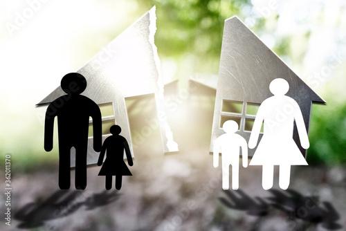 Photo Familienschutz. Sich schützen. Scheidung.