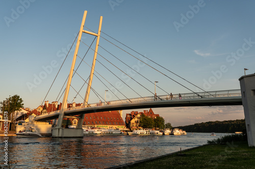 Fototapeta Mikołajki - Panorama miasta na mazurach obraz