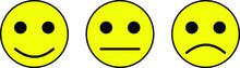 Yellow Round Smiley Face: Happ...