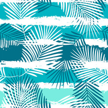 Tropical Pattern, Summer Palm ...