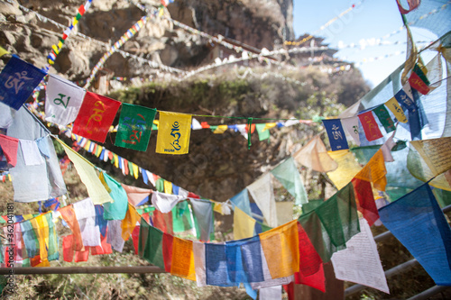 Canvastavla Tibetan prayer flags in Bhutan