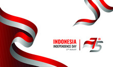17 August 1945, Happy Indonesia Independent Day. Dynamic Indonesian Flag Banner Template. Vector Illustration