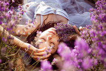 A Beautiful Girl In A Lavender...