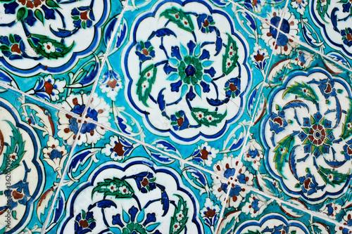 Fotografie, Obraz Iznik tiles at Topkapi Palace Museum, Istanbul, Turkey