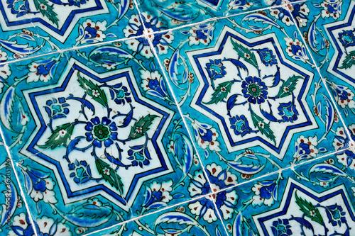 Iznik tiles at Topkapi Palace Museum, Istanbul, Turkey фототапет