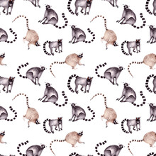 Seamless Pattern With Funny Po...