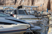 Boats Moored At The Pier In Th...