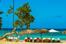 Tropical Beach In Cuba With Pe...