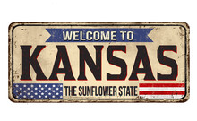 Welcome To Kansas Vintage Rust...